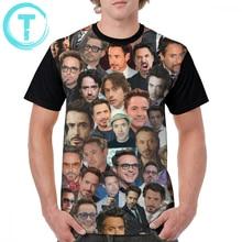 Robert T Shirt Robert Downey Jr. Collage T-Shirt Fashion Graphic Graphic Tee Shirt 100 Polyester Man 4xl Short-Sleeve Funny Tshirt