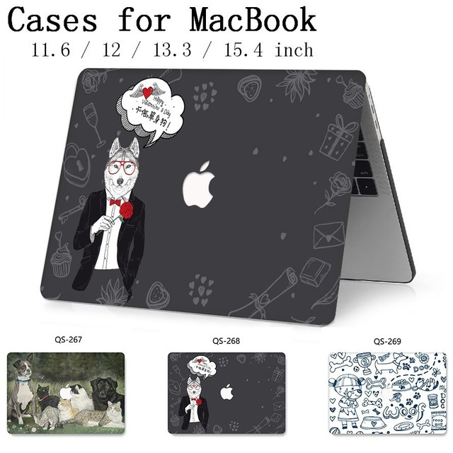 New For Laptop Case Notebook Bags Sleeve For MacBook Air Pro Retina 11 12 13 15.4 13.3 Inch With Screen Protector Keyboard Cove