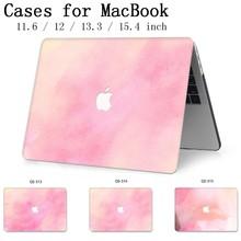 Caixa do portátil Para MacBook 13.3 15.4 Polegada Para MacBook Air Pro Retina Teclado 11 12 13 15 Com Protetor de Tela apple Novo Caso enseada