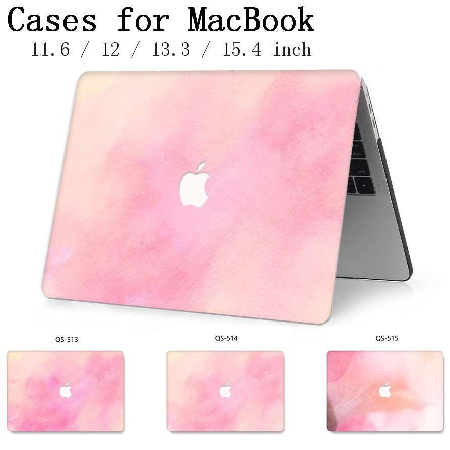 Laptop Case For MacBook 13.3 15.4 Inch For MacBook Air Pro Retina 11 12 13 15 With Screen Protector Keyboard Cove Apple New Case-in Laptop Bags & Cases from Computer & Office