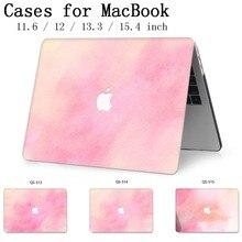 Macbook 13.3 용 노트북 케이스 macbook air pro retina 용 15.4 인치 11 12 13 15 화면 보호기 키보드 코브 apple new case