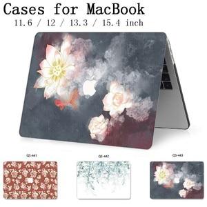 Image 1 - ホット Macbook Air Pro の網膜 11 12 13 15 新しいアップルのラップトップケースバッグ 13.3 15.4 インチスクリーンプロテクターキーボード入り江 tas