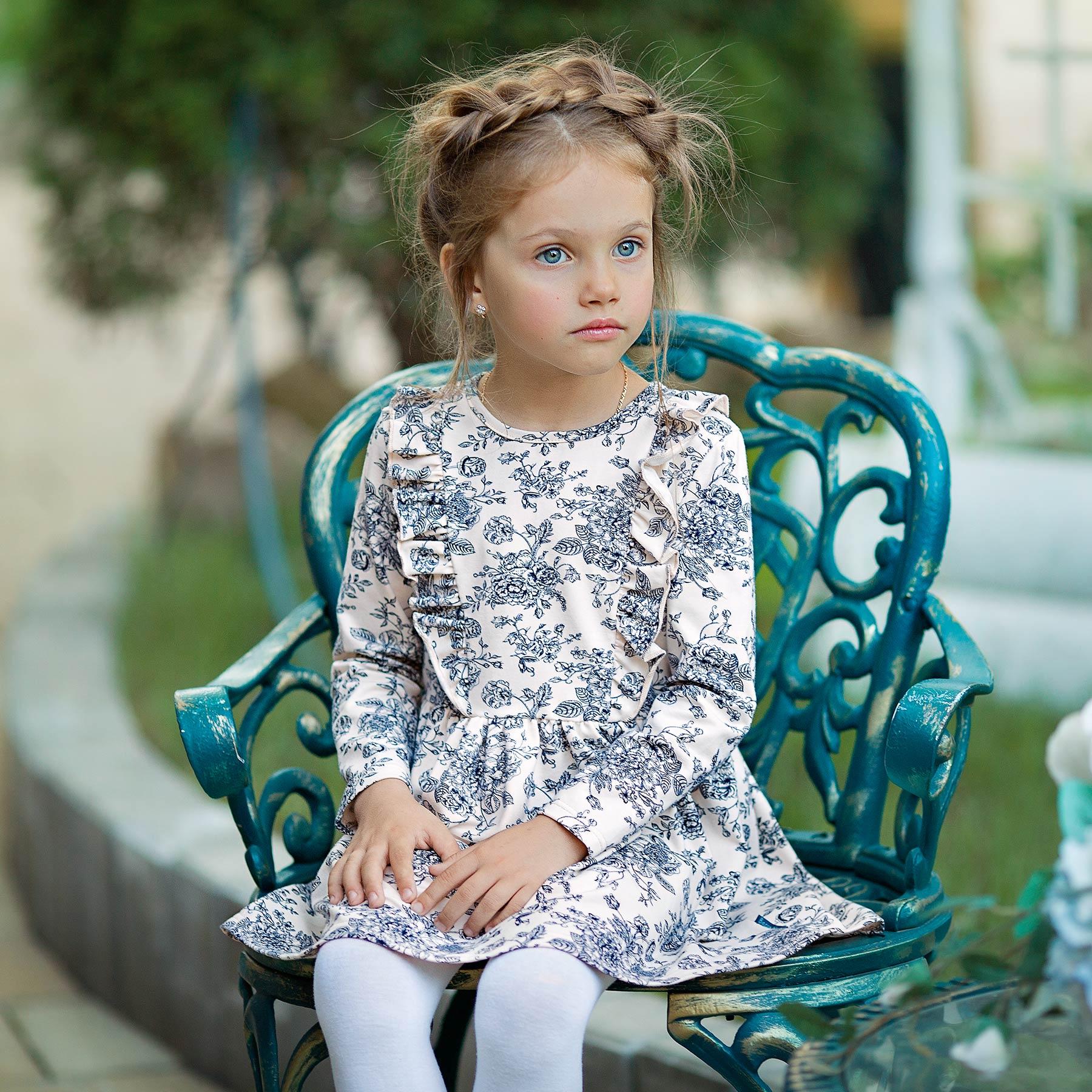 BOSSA NOVA Children Girl's White Flower Dress 148B-187 multicolor flower print sleeveless pencil dress