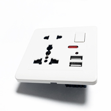 Delviz Standard ue panel gniazda 5V 2 1A podwójny Port ładowarki USB przełącznik sterujący 13A globalny uniwersalny 5 otwór USB ścienne gniazdo zasilające tanie tanio CN (pochodzenie) Z Portami USB Domy ogólnego przeznaczenia SQUARE DZ-E2-11 2 86mm x 86mm EU standard Brak Ścienny wbudowany