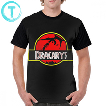 Game Of Thrones T Shirt Jurassic Dracarys Park T-Shirt Men Awesome Graphic Tee Printed Streetwear 100 Polyester Tshirt