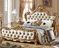 Dormitorio de matrimonio cama de oro tallado a mano estilo A05