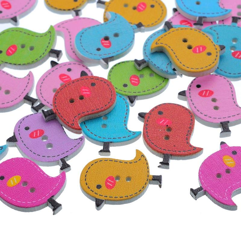 FUNIQUE 50PCs Buttons For Sewing Craft Scrapbooking