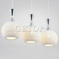 Керамика Медь кулон столовая лампы освещения сцены три Обеденная Медь лампа творческие блюда люстры