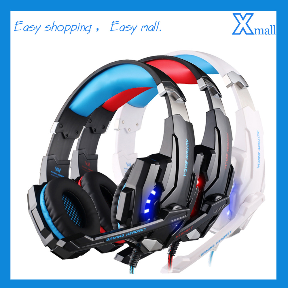 53fdb9481fe מוצר - KOTION EACH G9000 3.5mm Gaming Headphone Headband Headset with  Microphone LED Light for 3.5mm jack Xbox ONE/PS4