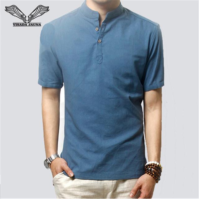 Camiseta de los hombres 2017 Nueva Marca de Estilo de La Moda Clásica Camiseta Masculina camisa Casual Slim Fit Ropa de Alta Calidad de Solid Camiseta de Los Hombres N506