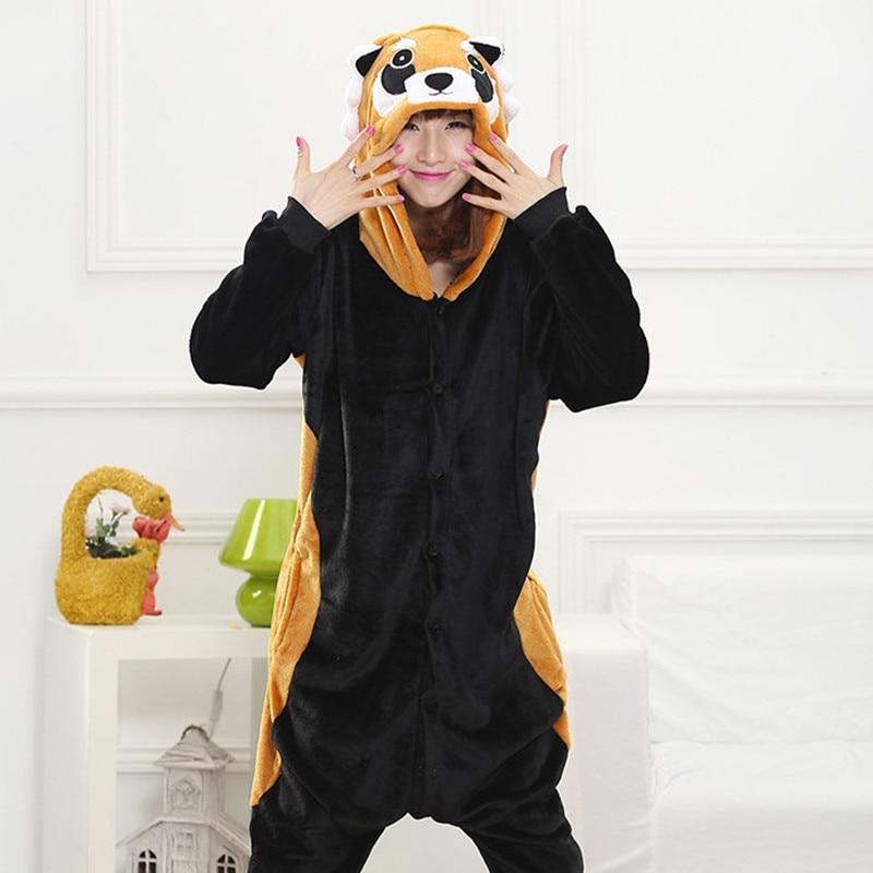 Image of: Kawaii Cheap Adults Winter Flannel Cute Cartoon Animal Raccoon Pajamas Onesie Red Panda Costume Aliexpress Cheap Adults Winter Flannel Cute Cartoon Animal Raccoon Pajamas