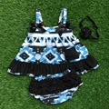 NEW infant toddler outfits baby little girls clothing Azect swing top outifts with headband and necklace