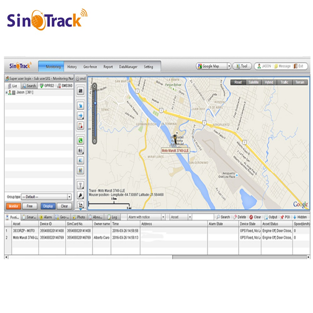 product GPS Tracking Software Account of ST-999S www.sinotrack.com