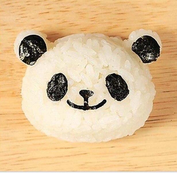 2 комплекта 1 комплект = 2 шт панда форма для рисовых лепешек костюм креативное милое приспособление для суши морские водоросли зажим Морские Водоросли тиснение DIY устройство
