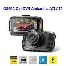 Free Shipping!! Original GS90C Car DVR Ambarella A7LA70 2304*1296P 30fps 2.7Inch LCD 170 Wide Angles+G-Sensor+GPS Dash Cam