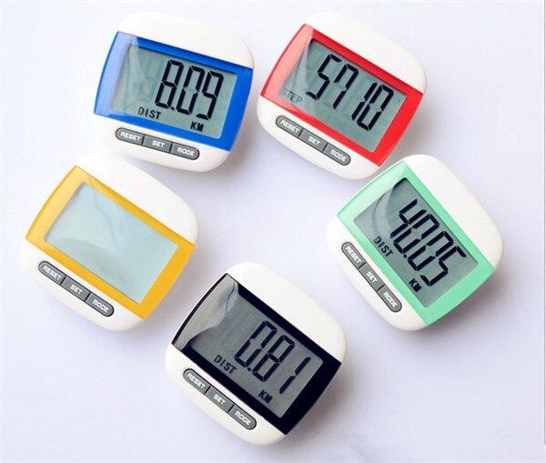 50 pcs Waterproof Step Movement Calories Counter Multi-Function Digital Pedometer