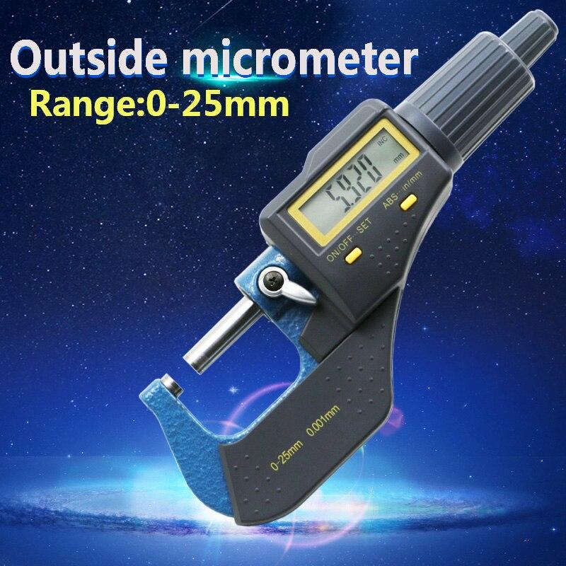 0 25mm digital micrometer electronic micrometer 0 001mm micron outside micrometer caliper gauge measuring tools