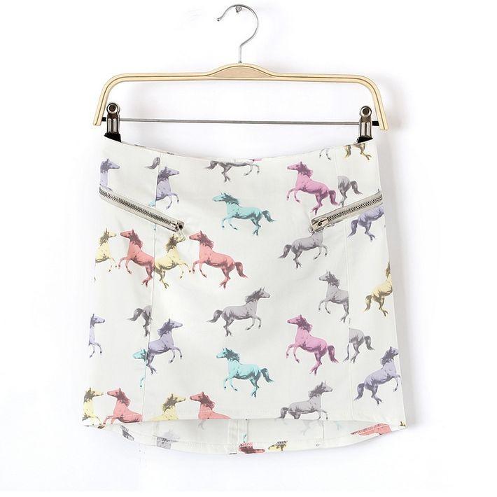 женщины casusal юбки 2015 новый лошадь печать юбки мода стретч короткие джинсы юбки wqz9318