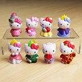 8pcs/set Hello Kitty Action Figure Toys, 4.5cm Hello Kitty PVC Figure Model Toy For Children, Gift Toys Anime Brinquedos