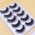 1 Box 5 Pair Thick False Eyelashes Stage Nightclub Smoky Eye Makeup Big False Eyelashes Natural Cross Thick Slim False Eyelashes
