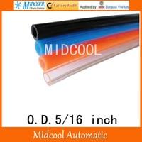 PU tube hose telescopic spiral pipe for air outside diameter 5/16 inch PU 5/16 100m