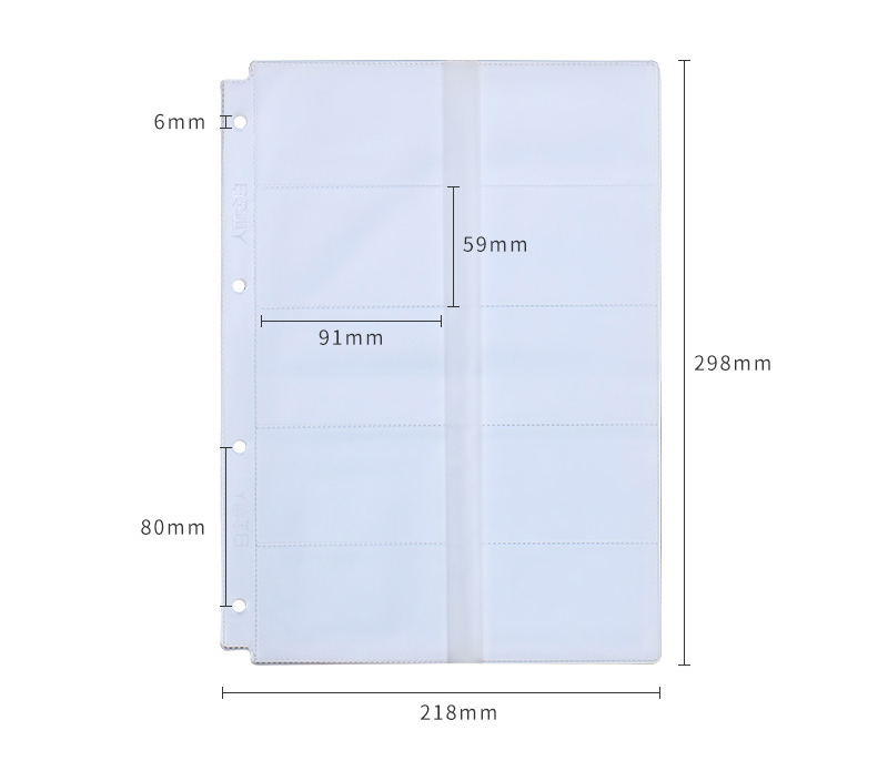 2PCS Business Card PVC Pockets, Plastic Pocket Page Sleeve A4 size ...