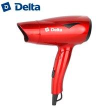 Фен DELTA DL-0902 со складной ручкой, мощность 1200Вт, функция ионизации, 2 режима мощности, концентратор, петелька для подвешивания, защита от перегрева.