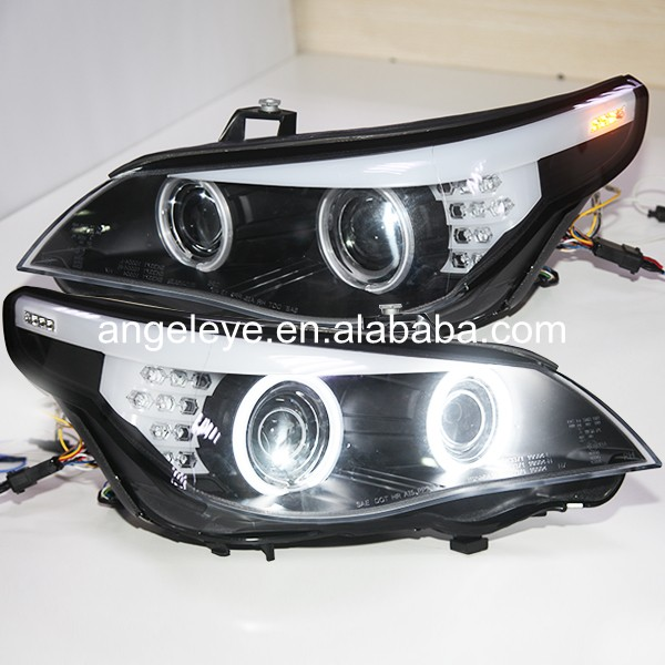 2007 2010 Year For E60 523i 525i 530i CCFL Angel Eyes Head Lights Head lamp For BMW original car with HID kit SN