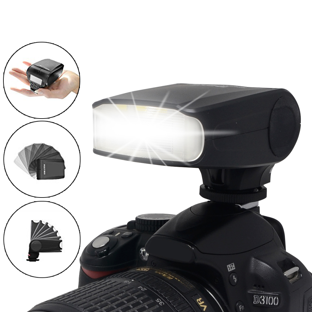 Meike MK-320 Flash Speedlite GN32 TTL for Panasonic <font><b>Lumix</b></font> DMC GF7 GM5 GH4 GM1 <font><b>GX7</b></font> G6 GF6 GH3 G5 GF5 GX1 GF3 G3 image