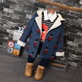 Fashion 2016 new winter warm lamb in the Korean version of the new Baby boys long wool thick Parka For 2-7Years Old
