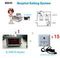Hospital Clinic Wireless Nurse Call servicio de emergencias médicas sistema de llamada K-200CD w 15 unids botón de llamada, por DHL / EMS