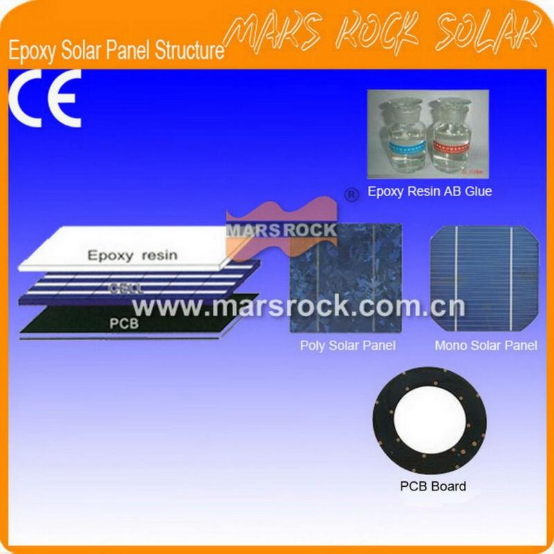 Epoxy solar panel structure