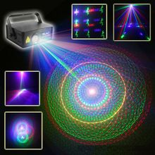 Laser LED Stage Light Lighting With Remote Controller Full Color Projector Effect Show For DJ Disco Party