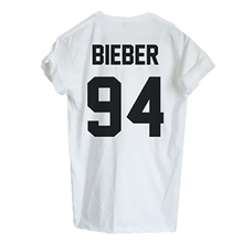 2016 Fashion Justin Bieber T Shirt Mens Band Boy Tshirt Rock Hip Hop Short Sleeve Name And Age T-shirt Tumblr Clothing T-Shirt