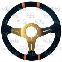 мфэ гонки специальное предложение; лидер продаж; вышитый логотип 350 мм глубокий кукуруза блюдо замши рулевое колесо с оригинальный логотип и упаковка