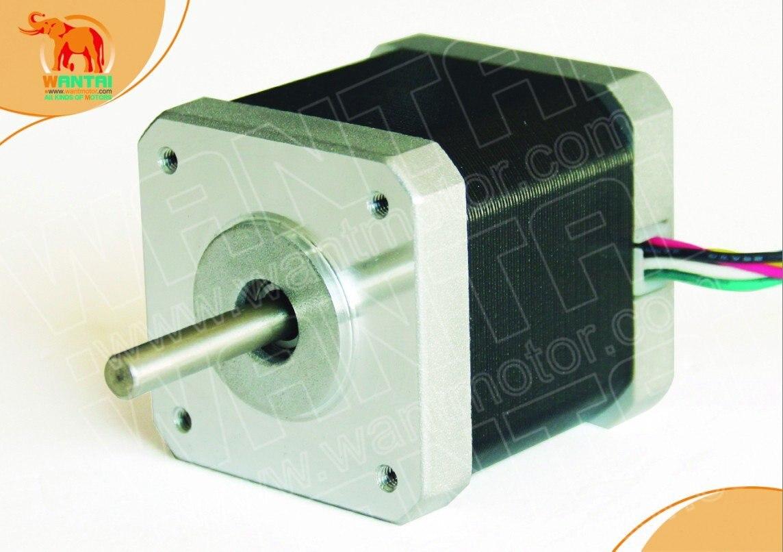 4-Leads Nema 17 шаговый двигатель 2800g. cm, 12VDC, 0.4A CNC резка и мельница wantai 3D RepRap Принтер робот