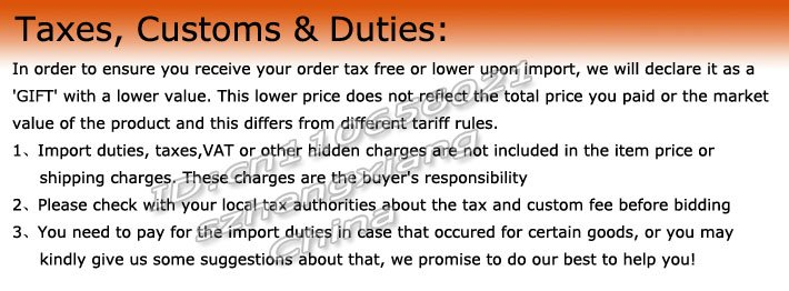 Taxes, Customs & Duties