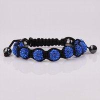 бесплатная доставка, качество 9 темно-синий горный хрусталь кристалл диско шары из бисера шамбалы браслет, ручной работы шамбала браслеты