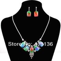 ls001 мода комплект ювелирных изделий ожерелья шарма прозрачного rustle Novel Small Bus партия лучший подарок доставку
