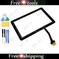 черный планшет с экраном датчик для samsung Galaxy таб P7500 + freetools бесплатная доставка