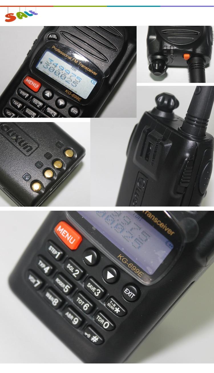 2013 New Supernova Sale Wholesale UHF Radio Set 300-350MHz Wouxun KG-699E Cheap Portable Radio Set