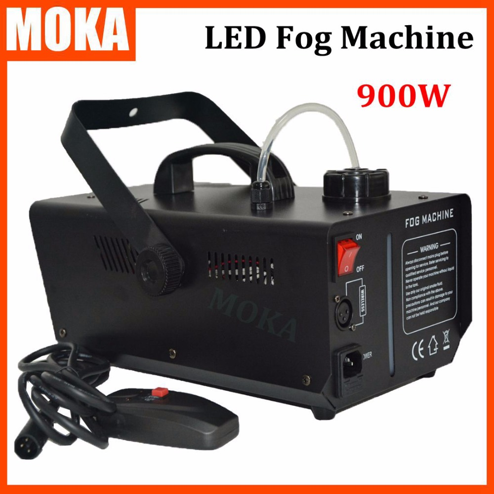 2016 New 900W LED Fog Machine black smoke machine heater Stage Effect fx Wireless Remote Control/cable control For Party Wedding цена