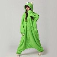 мода Рождественский костюмы Пэм все в одном пижама животных подходит косплей взрослый одежды фланель одноглазый монстр мультфильм косплей onesie
