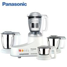 Panasonic MX-AC400WTQ Кухонный комбайн для измельчения и смешивания продуктов, макс.мощность 1000 Вт, безопасное использование, 4 насадки, фильтр для сока, закаленные ножи из нержавеющей стали.