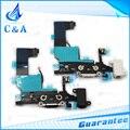 Envío Gratis 10 unids Cargador USB Puerto de Carga Conector Dock con micrófono de auriculares audio jack flex cable para iphone 5 5g