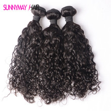 Sunnymay Cheap 8A Unprocessed Natural Curly Brazilian Hair Extension 3 Bundles/Lot For Sale Human Virgin Hair Weft