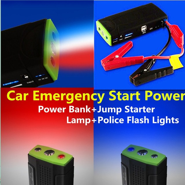 Mini Petrol & Diesel 9900mAh Car Jump Starter Battery Emergency Charger Power Bank + SOS Flashing Lights + Free Shiping