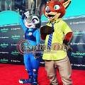 2016 New Officer Judy Hopps Rabbit  and Nick Fox Mascot Zootopia Mascot Costume Custom Made D0309