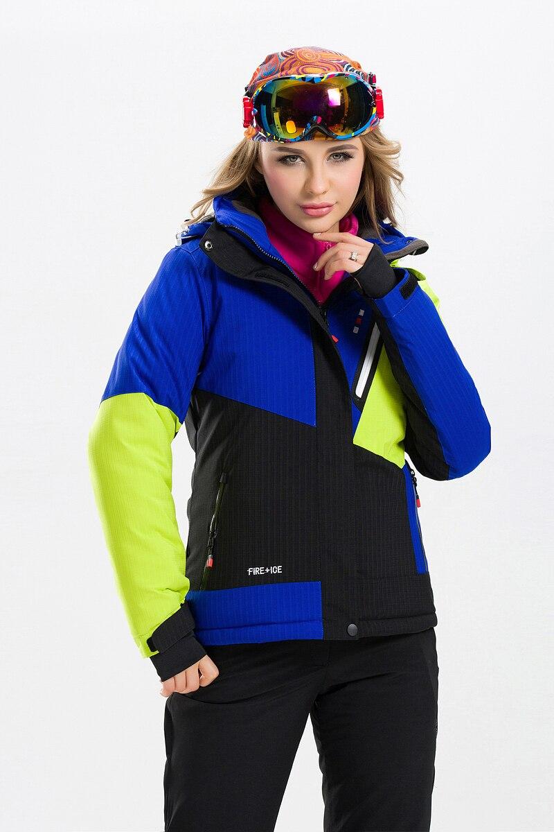 Prix pour Femelle Femmes Ski Snowboard Veste Coupe-Vent Imperméable À L'eau Chaude Vêtements Femme Épaississent Thermique Respirant Ski Camping Équitation Nouveau