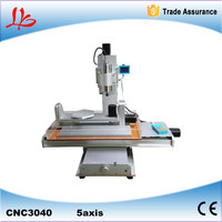 New arrival 5 axis cnc machine pillar CNC 3040 engraving machine,Ball Screw Table Column Type woodworking cnc router lathe
